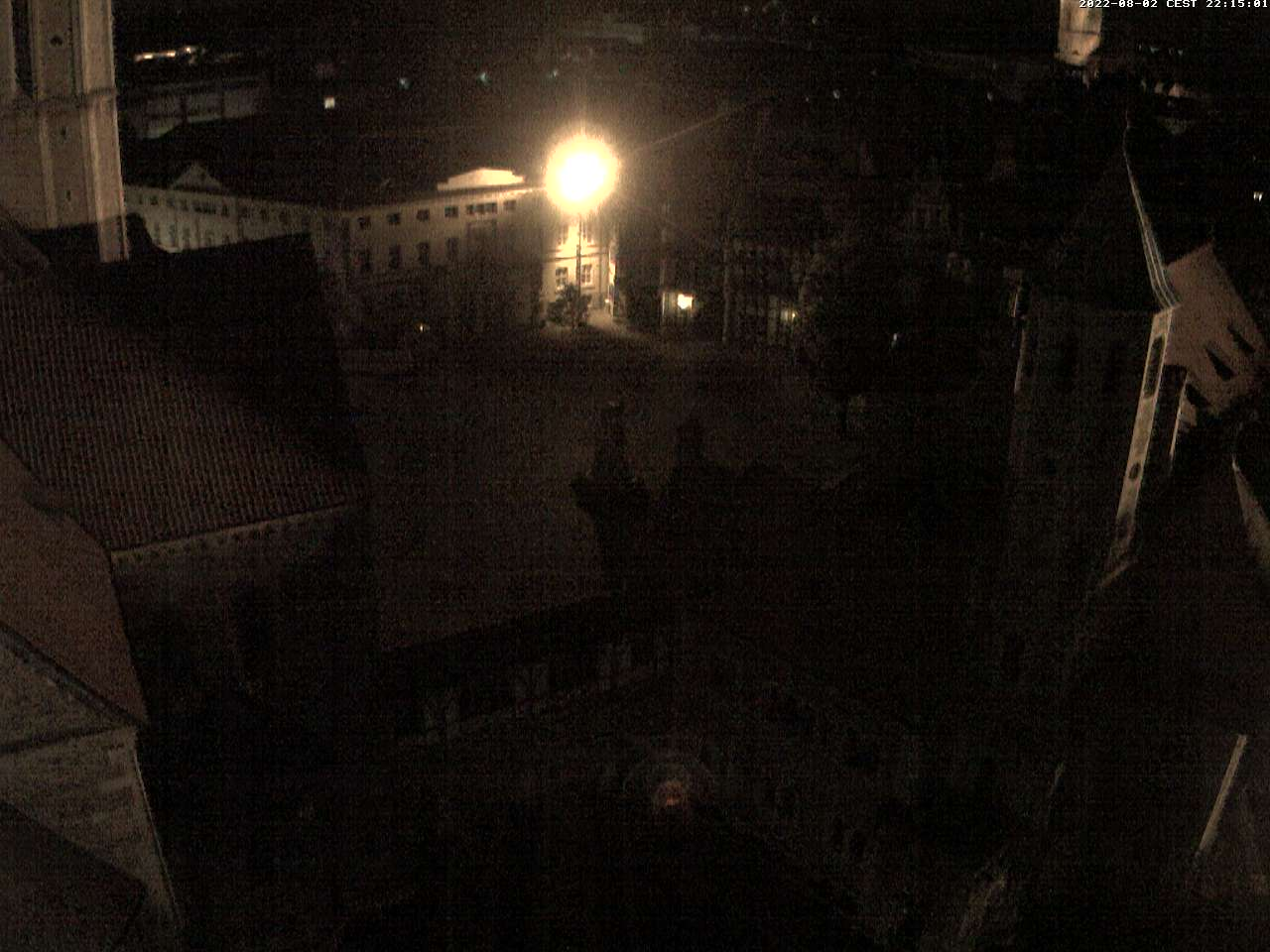 The view from the tower of city hall of Castle Square (Burgplatz)